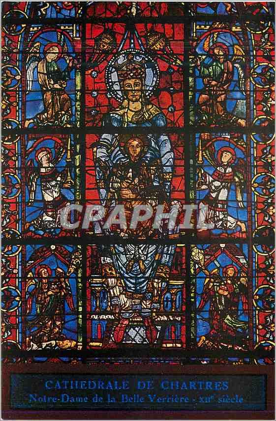 Ansichtskarte AK Cathedrale de Chartres Notre Dame de la Belle Verriere 0