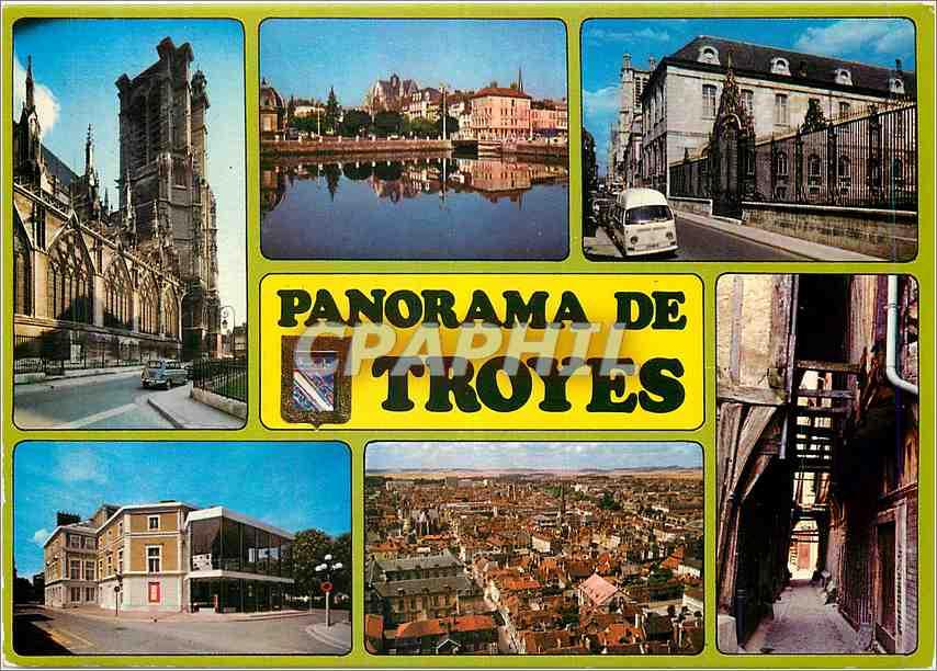 Moderne Karte En Champagne Troyes 0