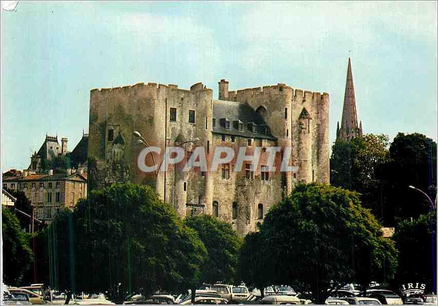 Moderne Karte Niort (Deux Sevres)Le donjon XIIe s  (Mon Hist)Vestige d'un chateau fort des comtes de Poitiers 0