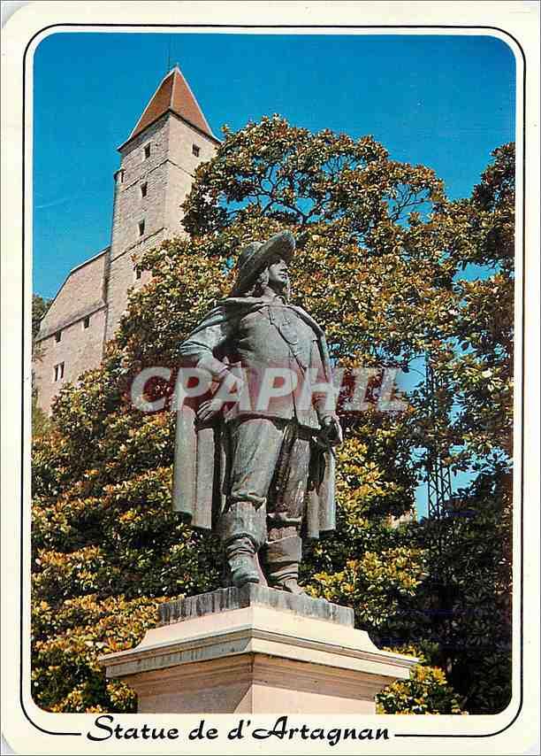 Moderne Karte Statue de d'Artangan et la Tour d'Armagnac Auch (Gers) 0