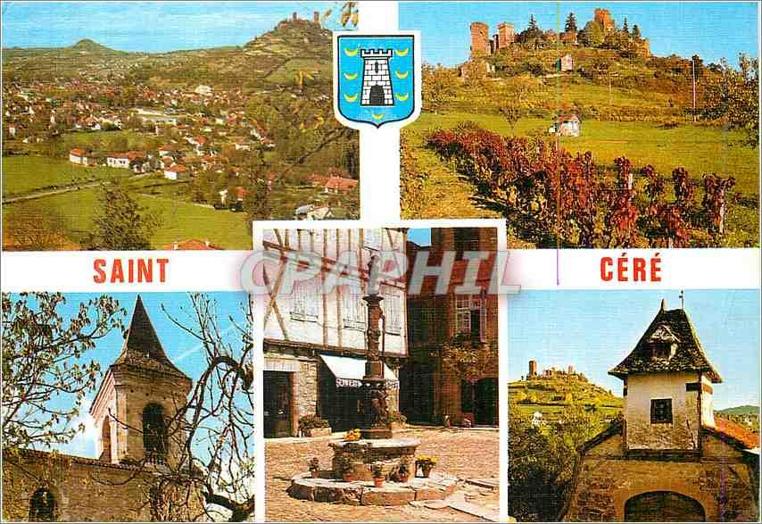 Moderne Karte Saint Cere Le Lot Terre des Merveilles Vue generale 0