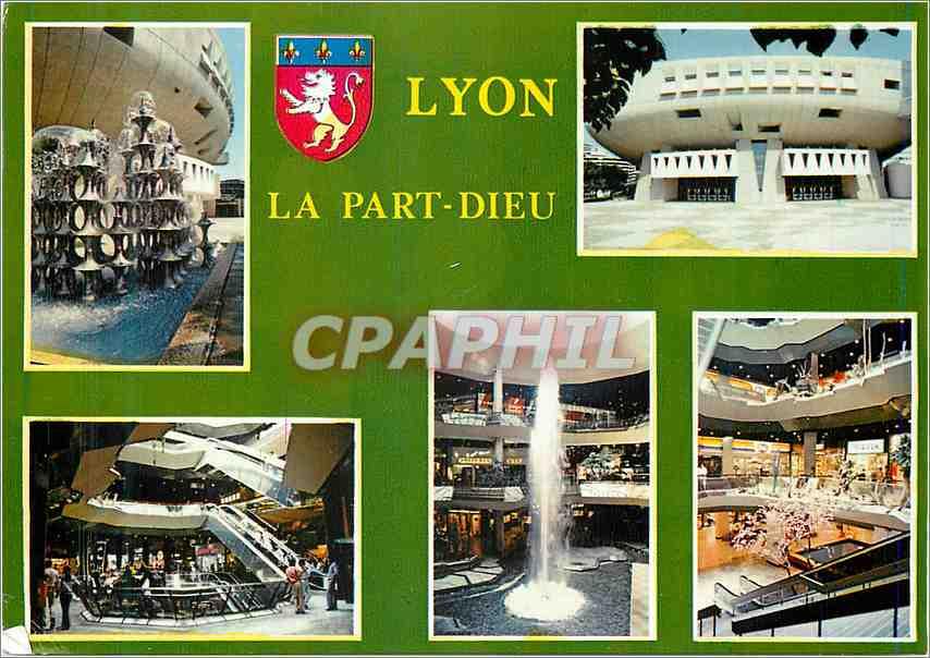 Moderne Karte Lyon (Rhone)La Part Dieu 0