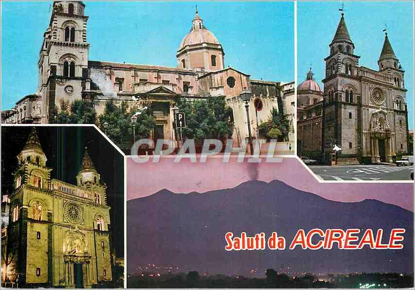 Moderne Karte Salutation de Acireale Cathedrale 0