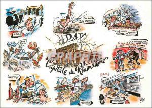 Moderne Karte Dax Capitale du Rhumatisme  (Bandes dessinees)