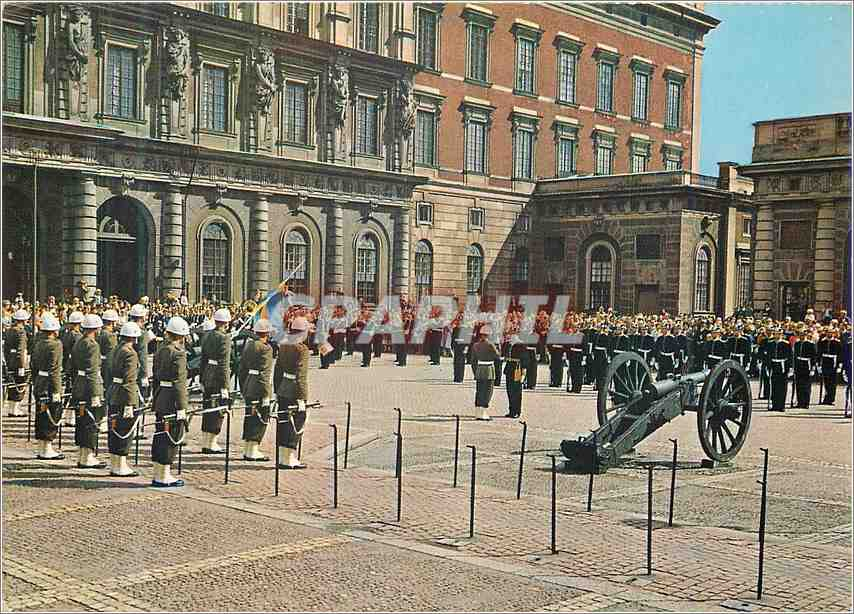 Moderne Karte The Royal Place Changing of the Guard Stockholm Militaria 0