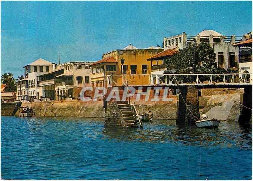 Moderne Karte Sea Front Lamu Petleys inn(Right hand corner) 0