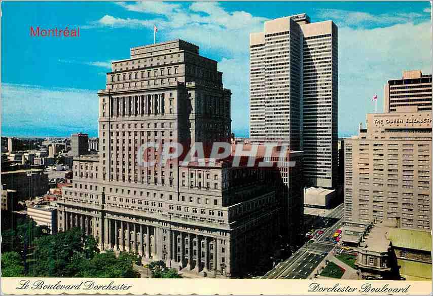 Moderne Karte Montreal le Boulevard Dorchester Quebec 0