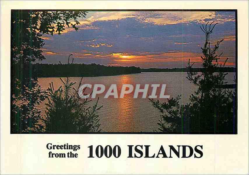 Moderne Karte Sunset on the 100� islands Canada 0