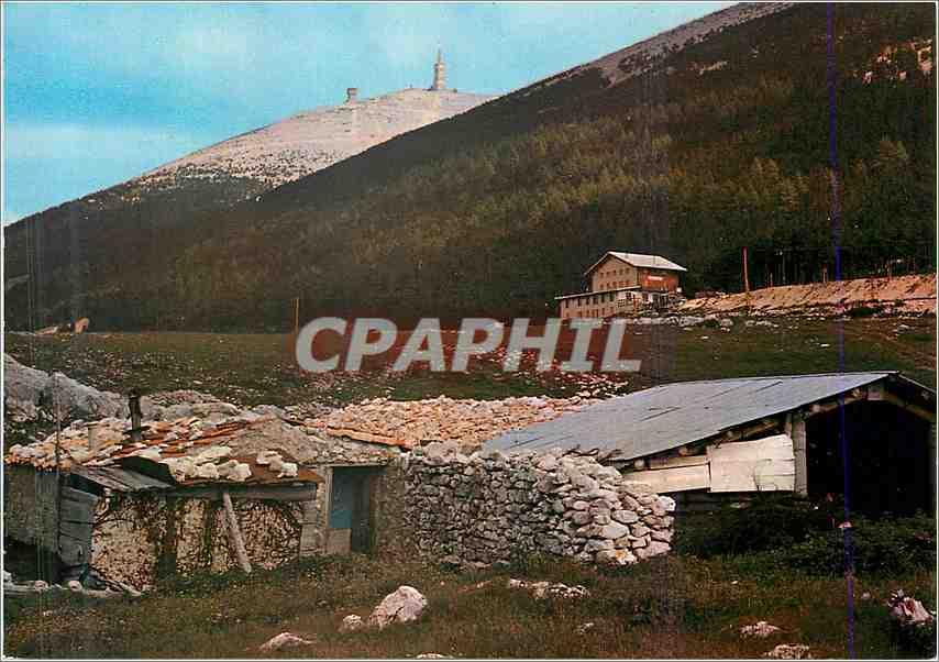 Moderne Karte Les Belles Images de Provence Le Chalet Liotard au Mont Serein avec la Bergerie et le sommet du 0