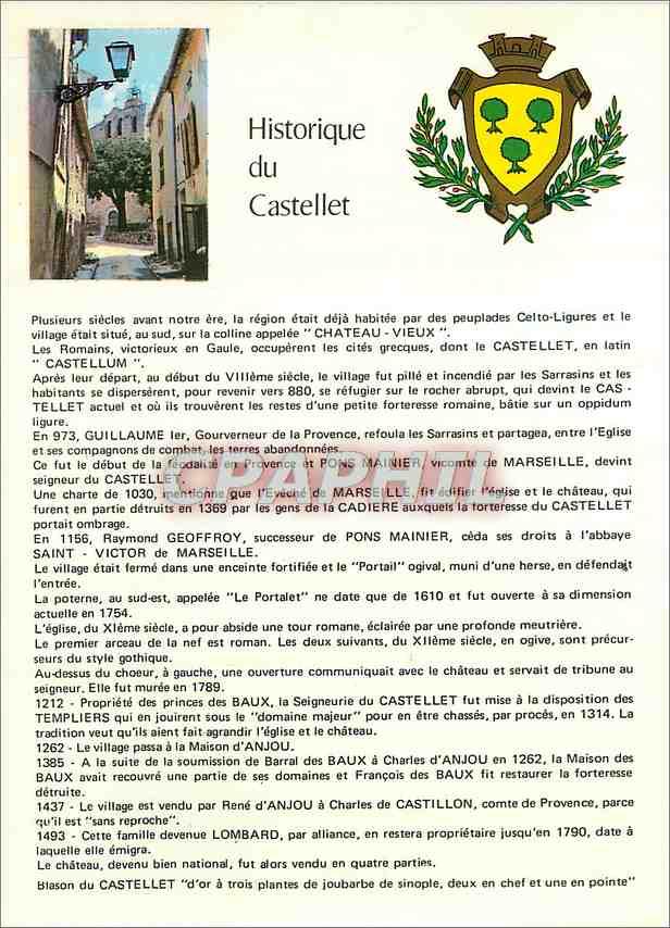 Moderne Karte Le Castellet Village Medieval 0