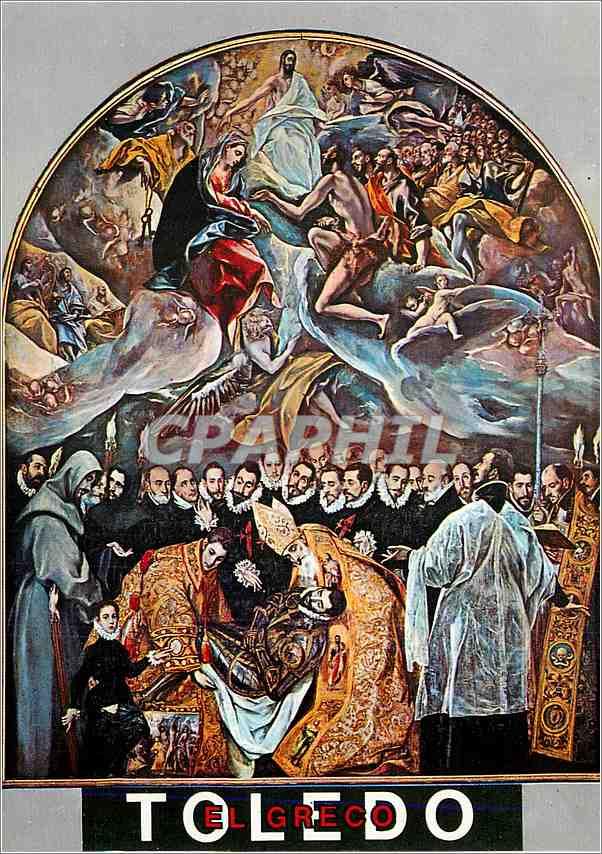 Moderne Karte Toledo Saint Tome L'Enterrement du compte d'Orgaz (Greco) 0