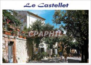 Moderne Karte le Castellet Village medieval Promenade dans les rues du village