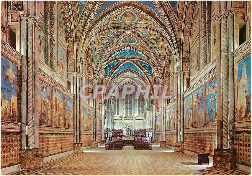 Moderne Karte Assisi Basilique de St Francois Eglise Superieure Interieur 0