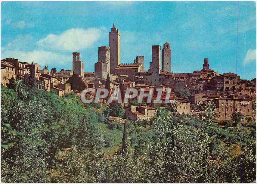 Moderne Karte Citta di S Gimignano (Siena)Panorama 0
