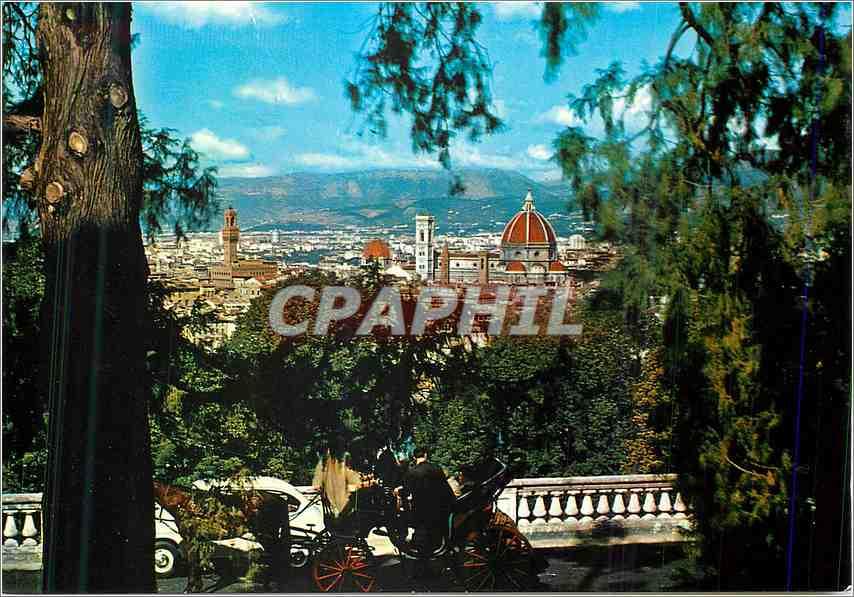 Moderne Karte Firenze Une vue de S Miniato al Monte 0