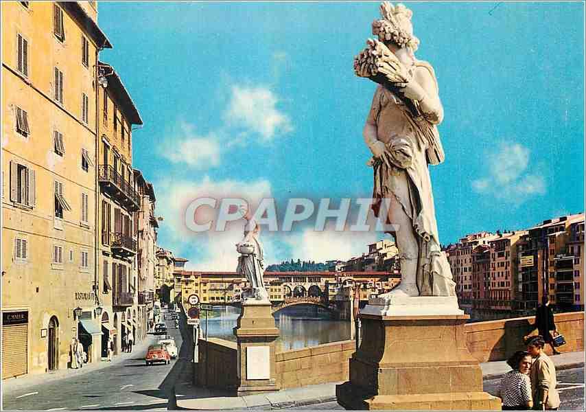 Moderne Karte Firenze Les statues du pont S Trinita 0