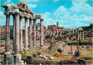 Moderne Karte Roma Forum Romain Temple de Saturno