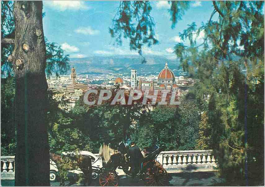 Moderne Karte Firenze Une vue de S Mininto al Monte 0