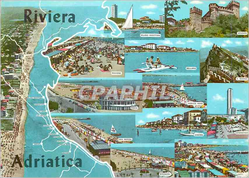 Moderne Karte Rivera Adriatica 0