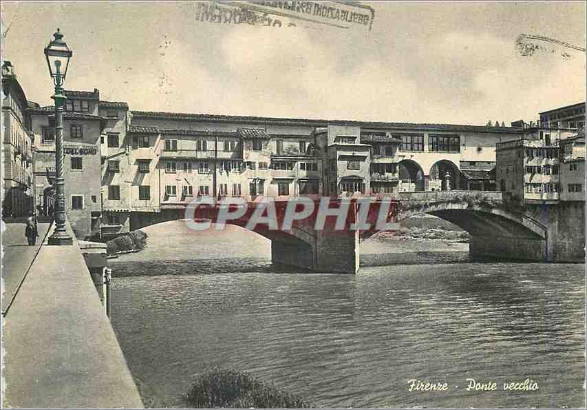 Moderne Karte Firenze Ponte vecchio (Le vieux pont) 0