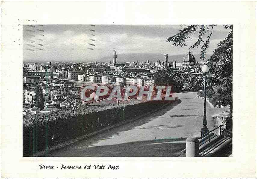 Moderne Karte Firenze Panorama dal viale Poggi 0