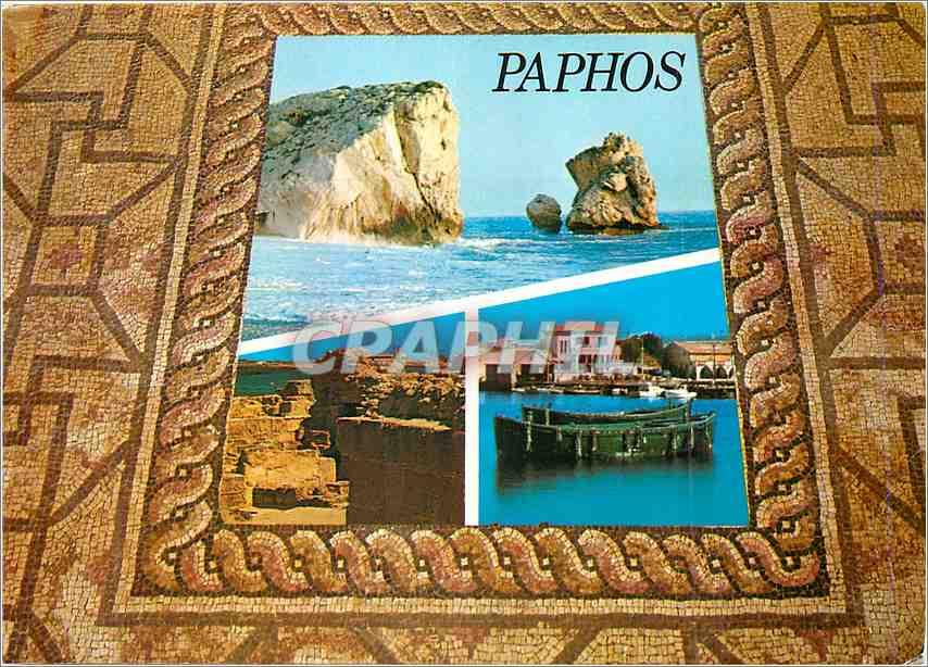 Moderne Karte Cyprus Paphos 0