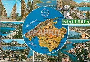 Moderne Karte Mallorca (Baleares)Espana