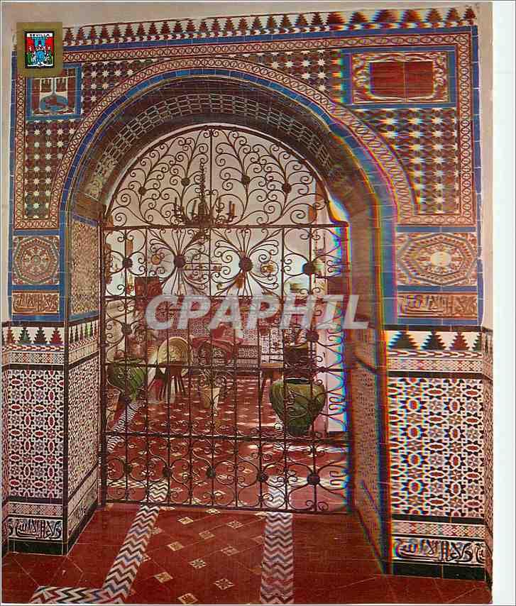Moderne Karte Sevilla Cour du quartier de St Croix 0