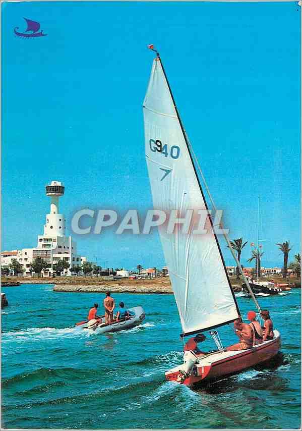 Moderne Karte Ampuriabrava(Costa Brava)Sports nautiques et Club Nautique 0