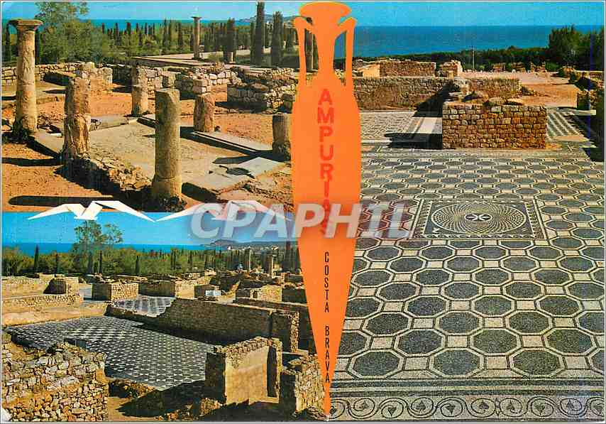Moderne Karte Ampurias (Costa Brava)Ruines et Mosaiques romaines 0