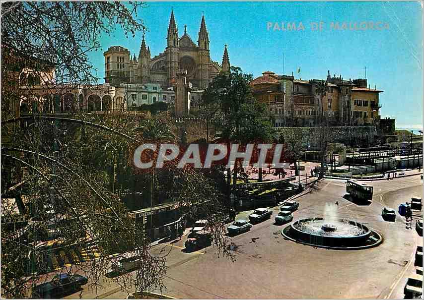 Moderne Karte Palma de Mallorca Catedral y palacio alundama 0