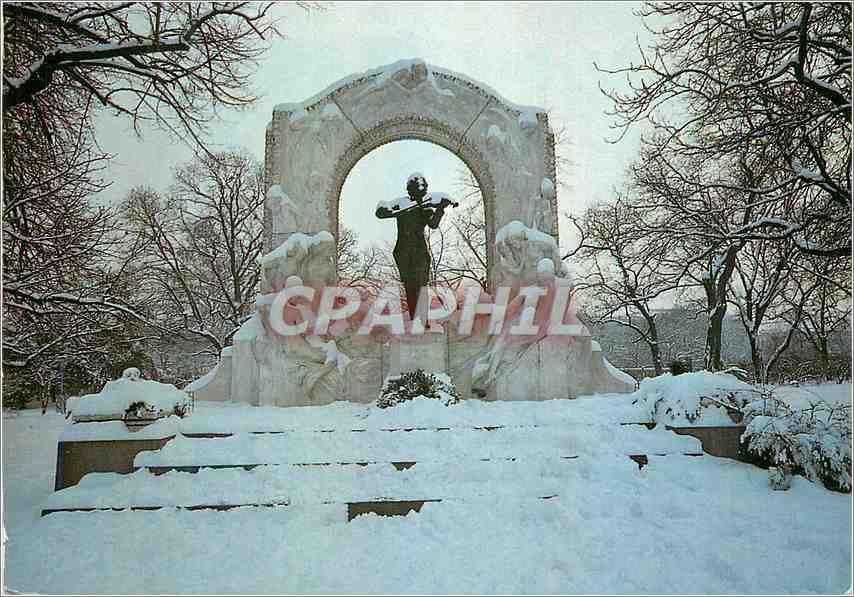 Moderne Karte Vienne Monument a Johann Strauss 0
