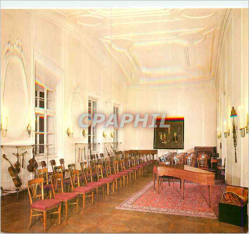 Moderne Karte Salzburg The City of Mozart Dancing masters hall in Mozart's dwelling house with historical inst 0