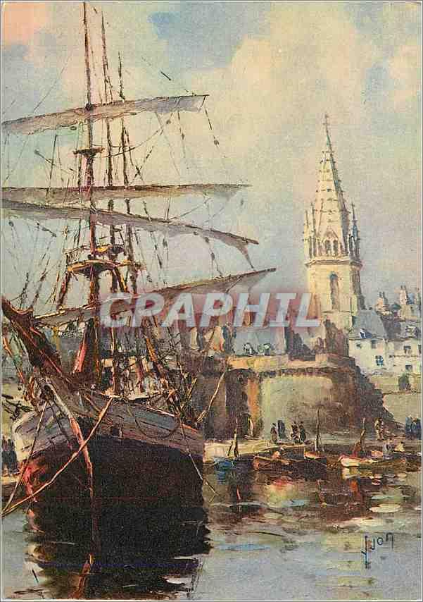 Moderne Karte Saint Malo (Ille et Vilaine)Le port Bateau 0
