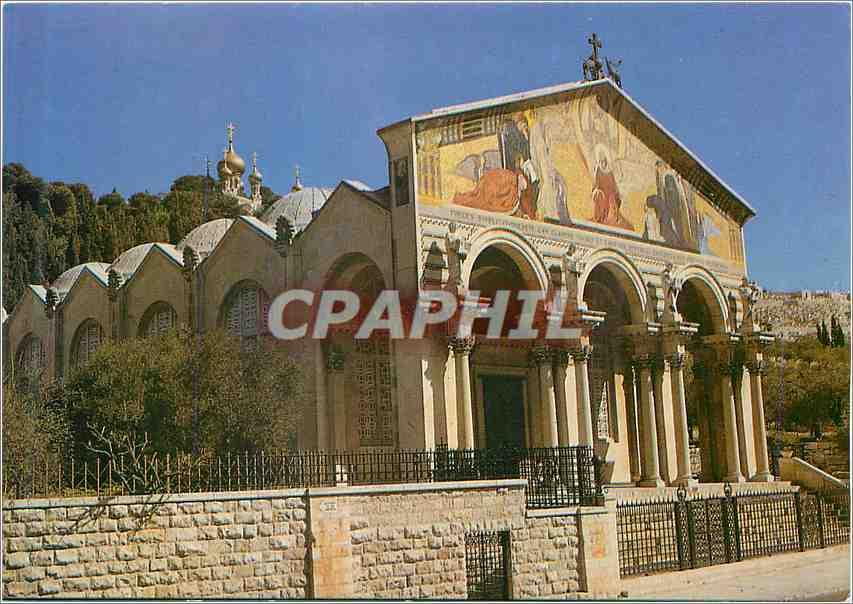 Moderne Karte Jerusalem Basilique et Jardin de Gethsemani 0
