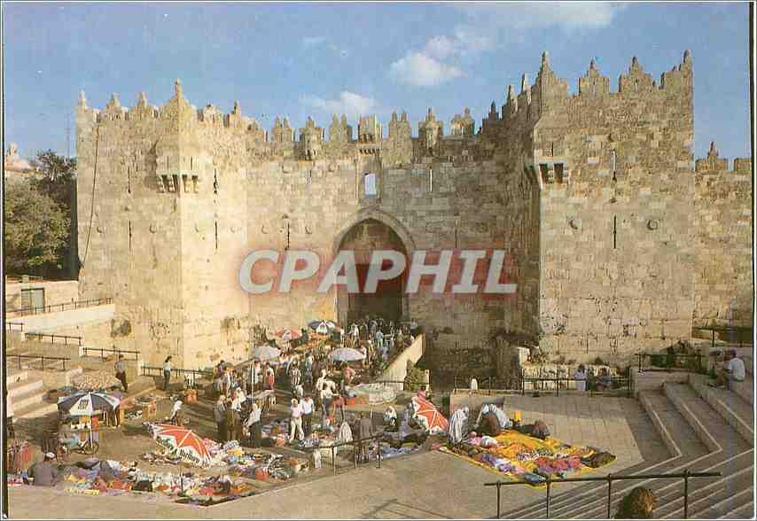 Moderne Karte Jerusalem La porte de Damas 0