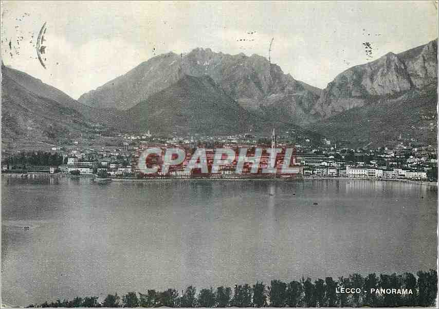 Moderne Karte Lecco Panorama Ghinghi 0