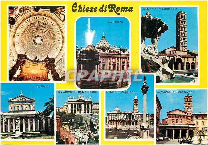 Moderne Karte Roma Chiese di Roma 0