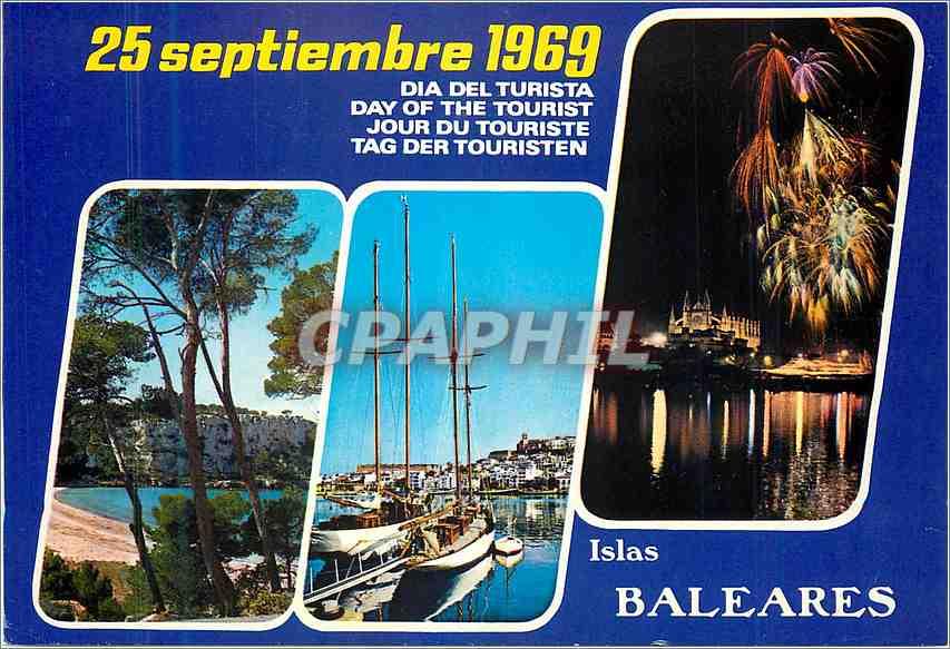 Moderne Karte Baleares Espana Bateau 0