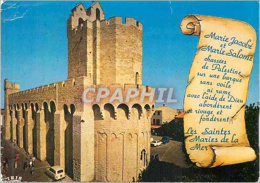 Moderne Karte Reflets de Provence Les Saintes Maries de la Mer L'Eglise fortifiee (IXe et XIIe S) 0