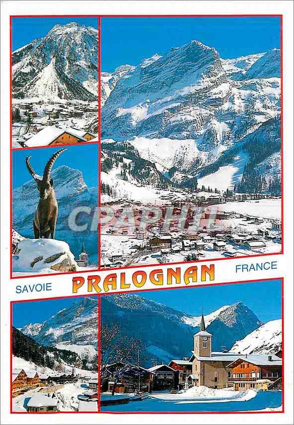 Moderne Karte Pralognan la Vanoise Savoie 0