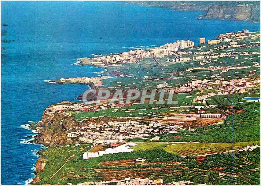 Moderne Karte Tenerife Vista de la costa y Puerto de la Cruz 0