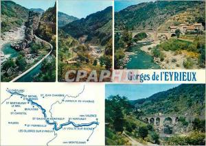 Moderne Karte Ardeche touristique Gorges de L'Eyrieux