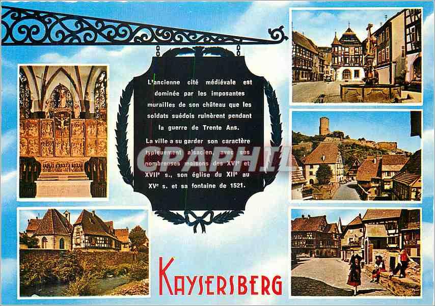 Moderne Karte Kaysersberg L'ancienne cite medievale 0