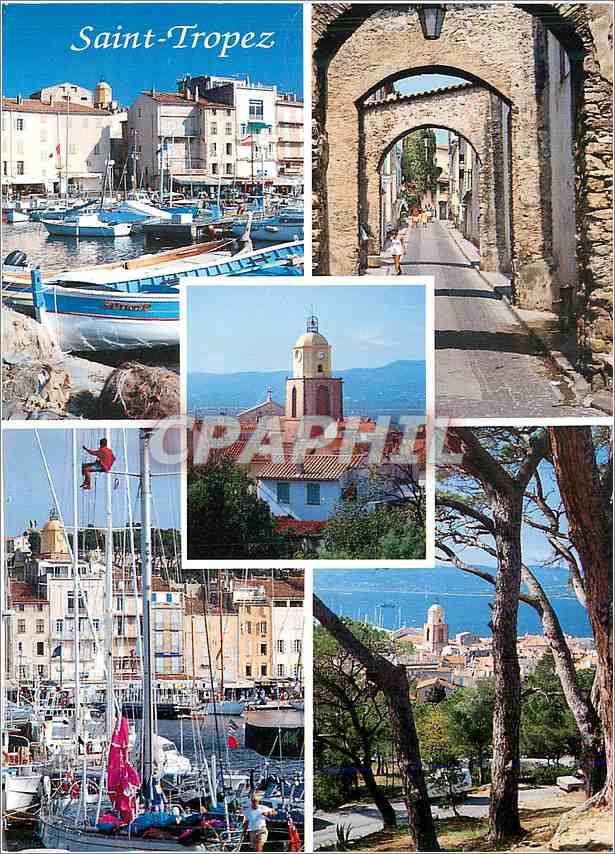 Moderne Karte Souvenir de Saint Tropez 0