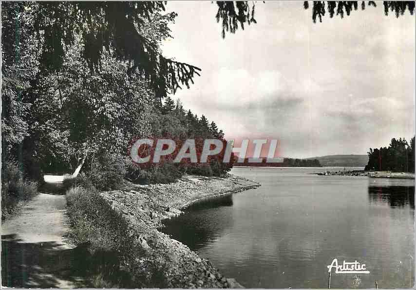 Moderne Karte Le lac des Settons Chemin de ronde Cote nord 0