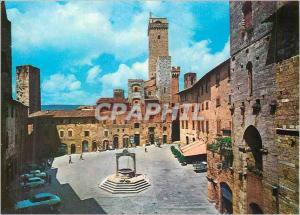 Moderne Karte Citta di San Gimignano Place de la Cisterna