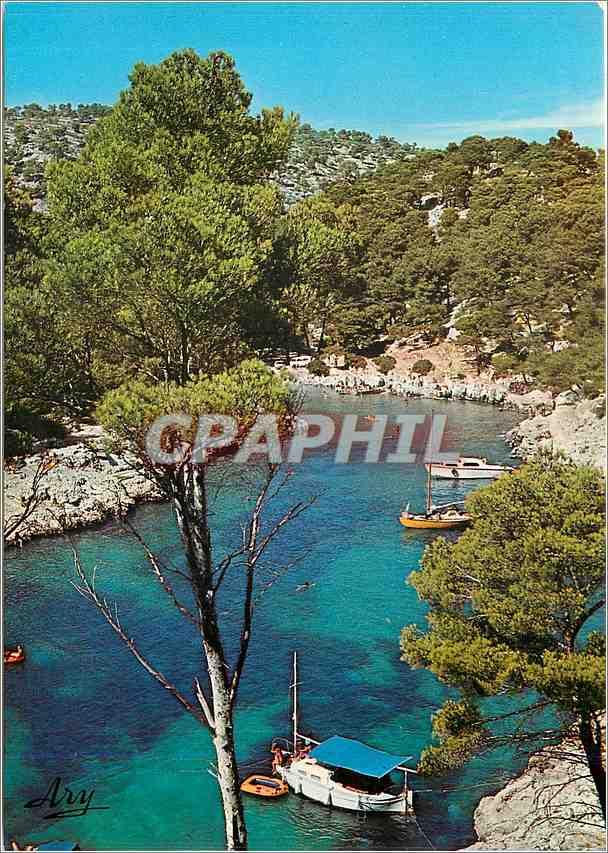 Moderne Karte Nos belles Calanques Pres de Cassi Port Pin 0