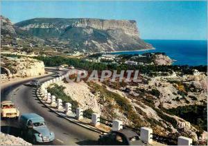 Moderne Karte Reflets de Provence Vue sur le Golfe de Cassis et le Cap Canaille de la route de la Gineste