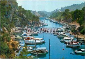Moderne Karte Nos belles Calanques Pres de Cassis Port Miou Bateaux